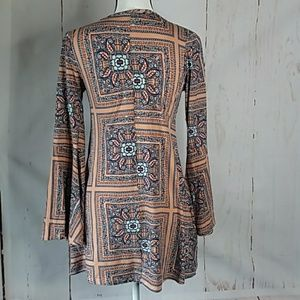 TMG new york Tops - Long Flowing Tunic Top Stretchy Size M